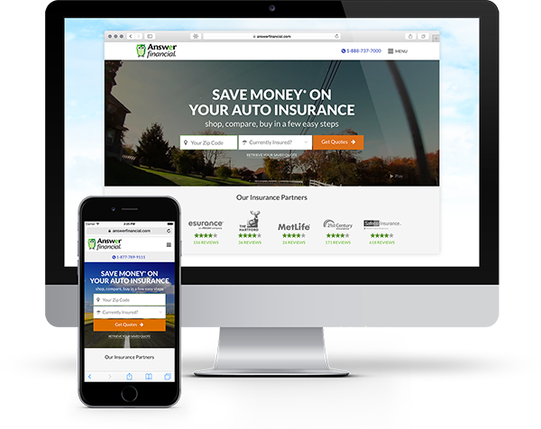 Answer Financial Homepage on iMac and iPhone
